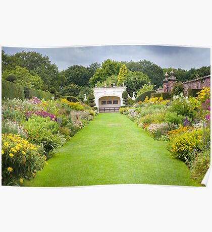 Arley Hall - Double Herbaceous Border Poster