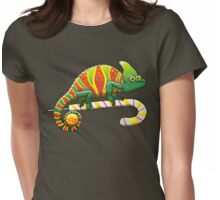 Christmas Chameleon Womens Fitted T-Shirt