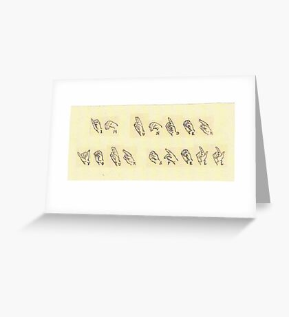 I'm Under Your Spell Vintage Sign Language Greeting Card