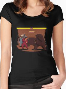 Bear Fight! Women's Fitted Scoop T-Shirt