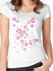 SAKURA Women's Fitted Scoop T-Shirt