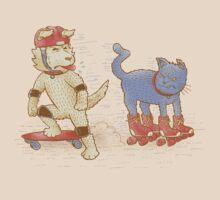 Skateboard dogs don't like roller skate cats T-Shirt