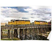 Train over bridge Poster
