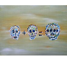 SKULL MATHEMATICS Photographic Print