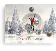 Surrealistic Merry Christmas Boy card Canvas Print
