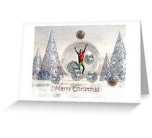 Surrealistic Merry Christmas Boy card Greeting Card