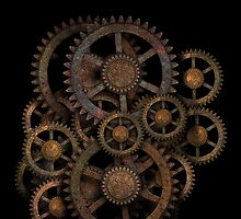 Infernal Vintage Steampunk Gears on your Gear by Steve Crompton