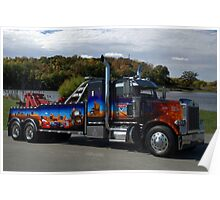 "Peterbuilt Big Rig Tow Truck ""Cars"" Tribute Truck Poster"