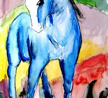 Abstract Watercolour Horse by Becky Pike