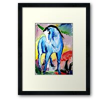 Abstract Watercolour Horse Framed Print