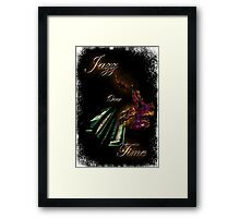 Piano Jazz Over Time by Bluesax Framed Print