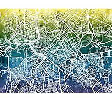 Rome Italy City Street Map Photographic Print