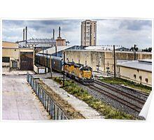 Entering Train Yard Poster