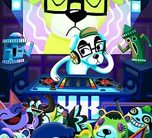 DJ KK Animal Crossing by Chantal Moosher
