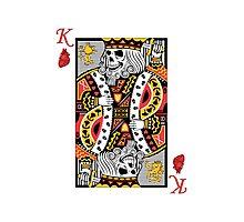 Horror Skeleton King Playing Card Photographic Print
