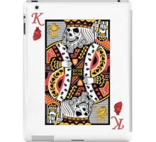 Horror Skeleton King Playing Card iPad Case/Skin
