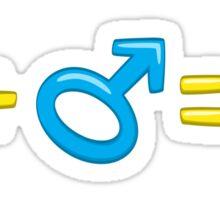 Cartoon gender symbols Sticker