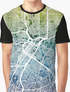 Houston Texas City Street Map Graphic T-Shirt