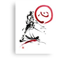 Samurai enso circle wild fury bushi bushido martial arts sumi-e  Canvas Print