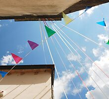 Bunting Flags in Ligosullo by jojobob