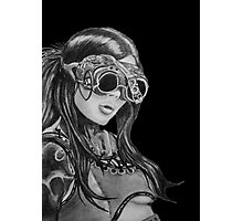 Steam Punk Woman Photographic Print