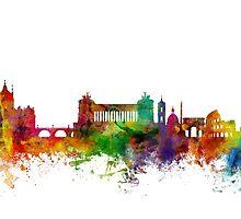 Rome Italy Skyline by Michael Tompsett