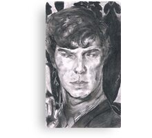 Charcoal Sherlock Canvas Print