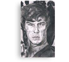 Charcoal Sherlock Canvas Print
