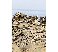 Tafoni with Cloudy Horizon Photographic Print