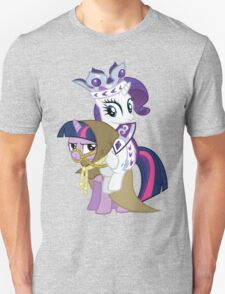 Princess Rarity and Twilight the Clever Unisex T-Shirt