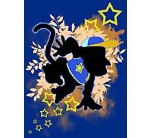 Super Smash Bros. Blue Diddy Kong Silhouette Photographic Print