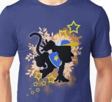 Super Smash Bros. Blue Diddy Kong Silhouette Unisex T-Shirt