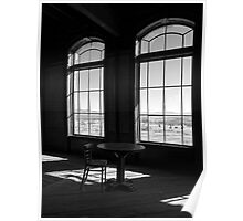 Table and Chair and The Windows Poster