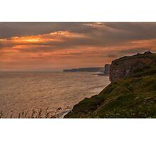 Sunset on the Glamorgan Heritage Coast Photographic Print