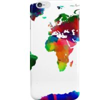Map of the World Map Painting iPhone Case/Skin