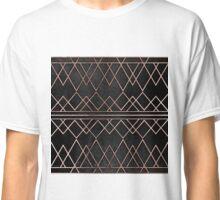 Chic & Elegant Faux Rose Gold Geometric Triangles Classic T-Shirt
