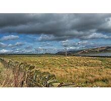 Dry stone walls and fields Photographic Print