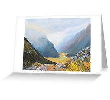 Routeburn Track Summit Greeting Card