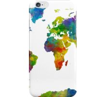 Map of the World Map Watercolor iPhone Case/Skin