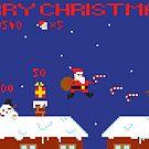 Merry Christmas Pixel Game by Jamie Harrington
