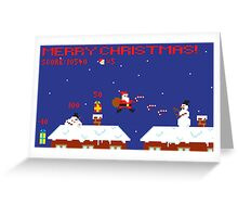 Merry Christmas Pixel Game Greeting Card