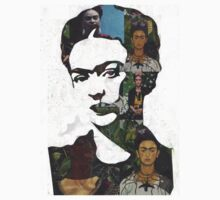Frida Kahlo Paintings and Photographs Mix by georgiagraceart