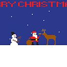 Merry Christmas Pixel Game 2 by Jamie Harrington