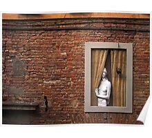 Donna alla finestra, Siena, Italy Poster