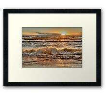 Rough Waters at Sunset Framed Print