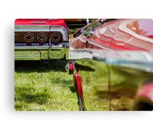 Red Chevy Impala Reflection Canvas Print