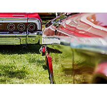 Red Chevy Impala Reflection Photographic Print