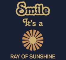 Smile it's a RAY OF SUNSHINE Children's Clothing One Piece - Short Sleeve