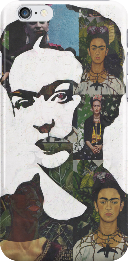 Frida Kahlo Paintings and Photographs Mix Phone Case by georgiagraceart