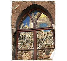 Siena cathedral reflection, Siena, Italy Poster